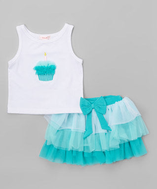 Girls Ice Cream Skirt Set