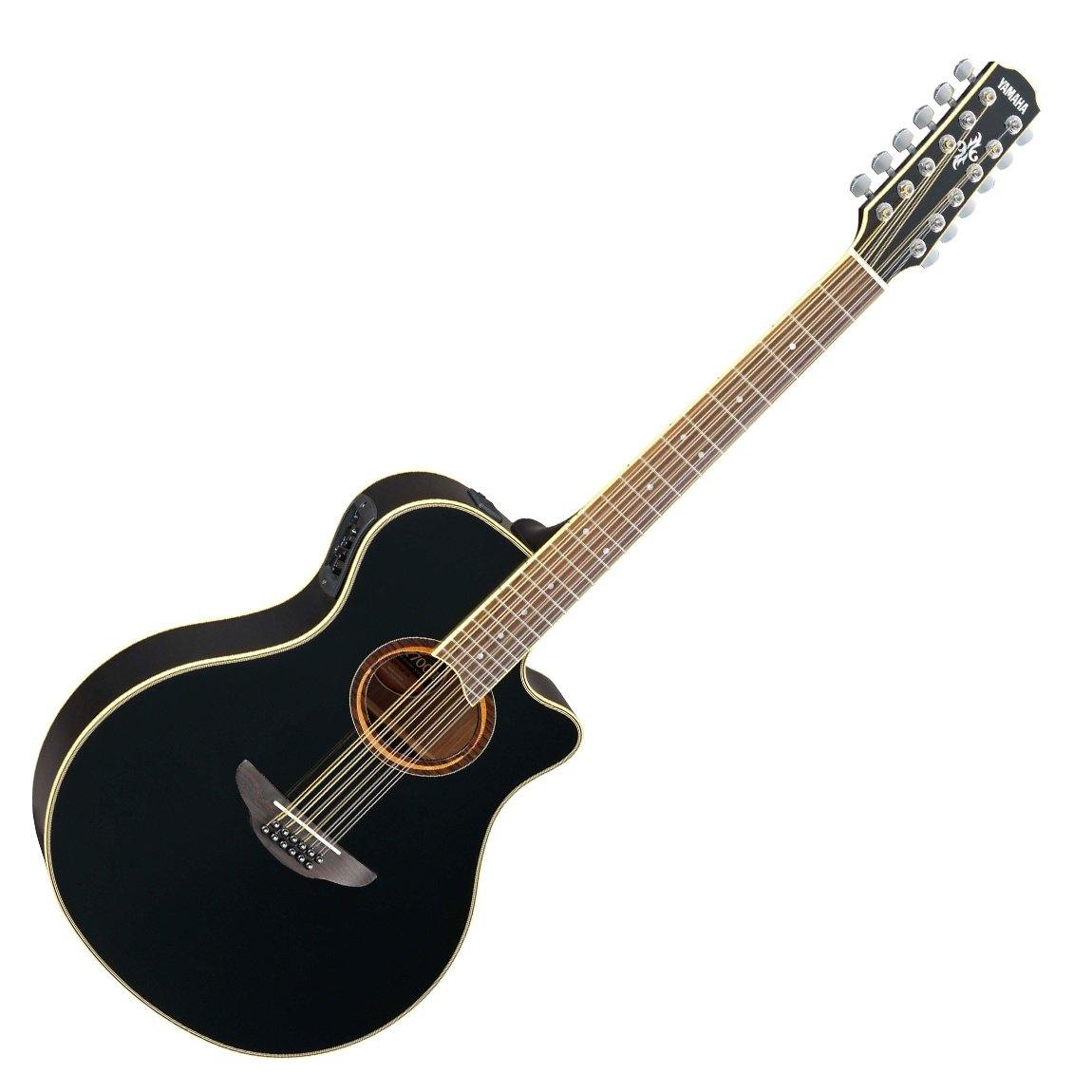 Yamaha APX700II-12 12 String Acoustic Guitar - Black - ICONS Shop