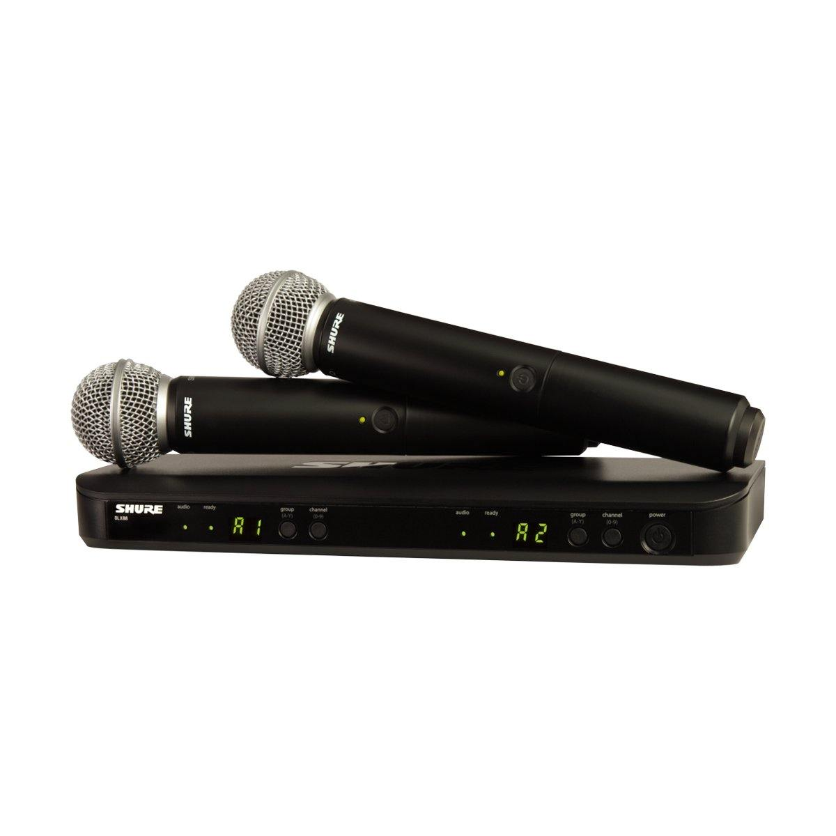 Shure BLX288/SM58 Dual Wireless Handheld Mic System w/ SM58 - ICONS Shop