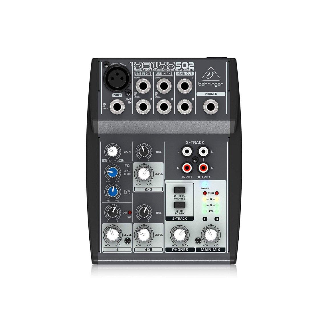 Behringer XENYX 502 Small Format 5-Input Mixer - ICONS Shop
