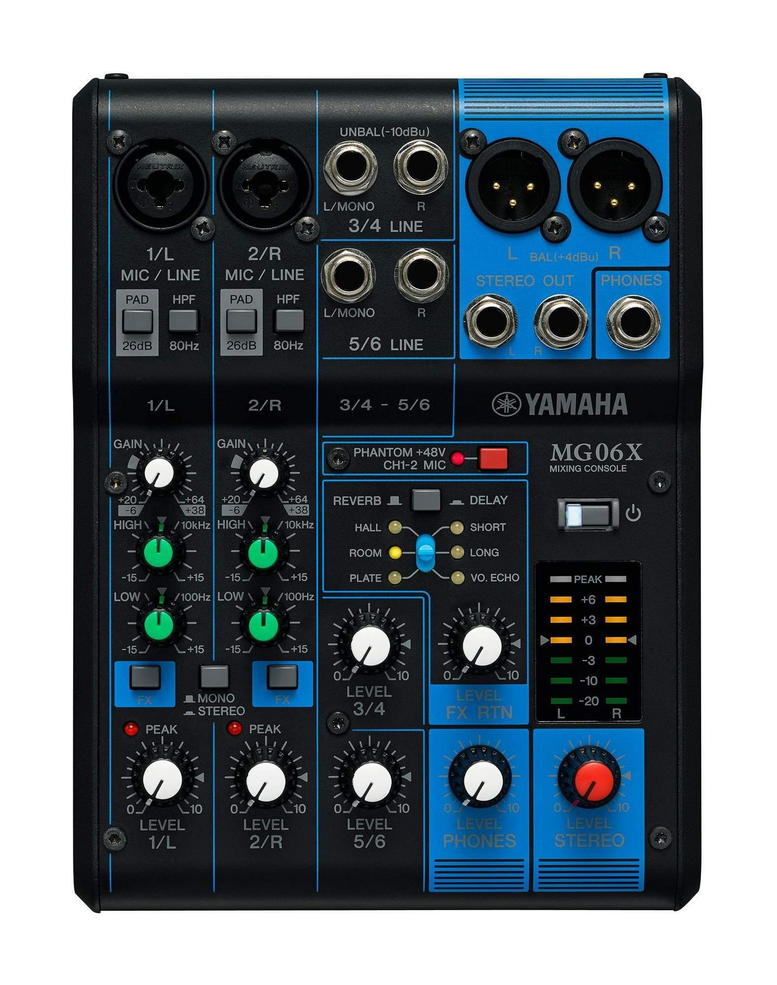 Yamaha MG06X 6-Input Mixer with Effects