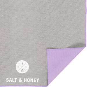 Non-Slip Pilates Reformer Towel | Gray/Purple