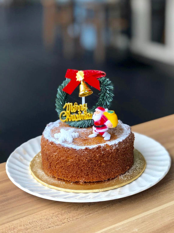 (M52) BABY BROWN SUGAR SUGEE CAKE WITH X'MAS DECO. (4-INCH)