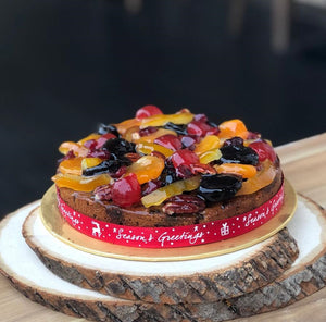 (M40) DELUXE CHRISTMAS FRUIT CAKE (7-inch)