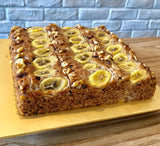 (A-E05) NEW! EGGLESS BANANA-WALNUT CAKE (9-INCH)