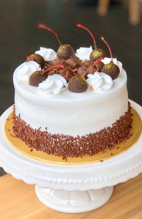 (A-E01) NEW! EGGLESS BLACK FOREST CAKE