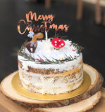 (M32) RUSTIC CHRISTMAS CAKE (6-inch)