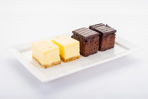 (SWC6) 10pc mini NY Cheesecakes + 10pc mini Choc. Chip Brownies (4cm by 5cm)