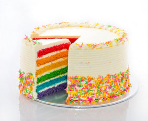 Rainbow Cake (with lemon-buttercream)