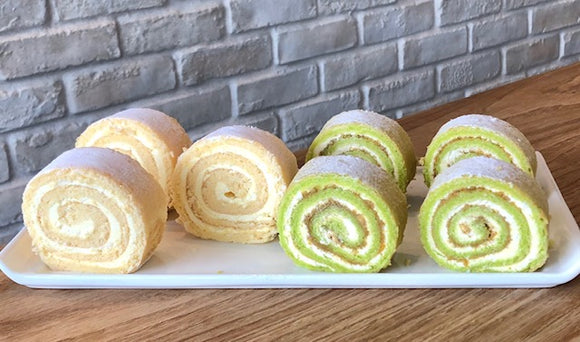 (CC05) COMBO OF ONDEH ONDEH & HONEY-CHEESE SWISS ROLLS (8/15/20 pc)