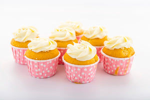 (SW22) VANILLA CUPCAKES WITH WHITE CHOC. FROSTING (30pc)