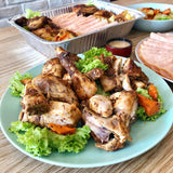 (CM-02) COMBO PLATTER OF ROAST CHICKEN & HONEY-CHK-HAM (for 4-6pax)