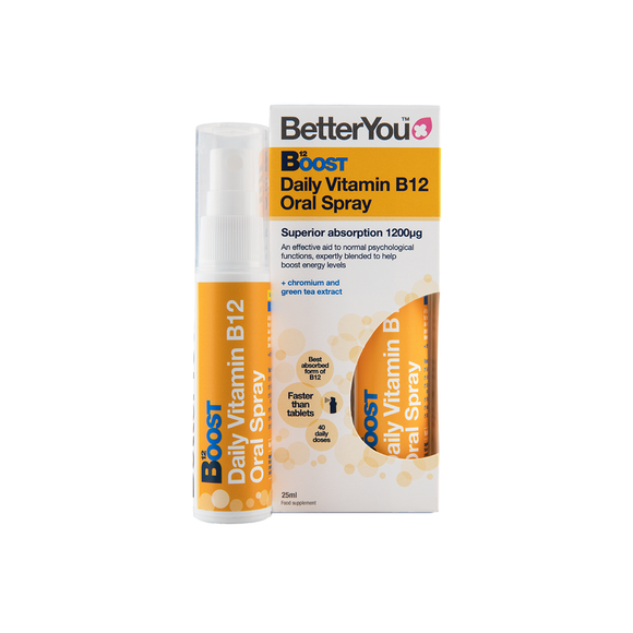 BetterYou Vitamin B12 Oral Spray Supplement to boost energy levels