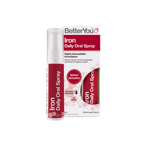 BetterYou Iron Oral Spray supplement to help reduce tiredness and fatigue