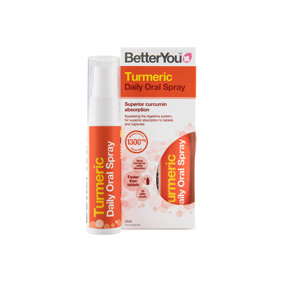 BetterYou Turmeric Oral Spray supplement with anti-inflammatory and antioxidant properties
