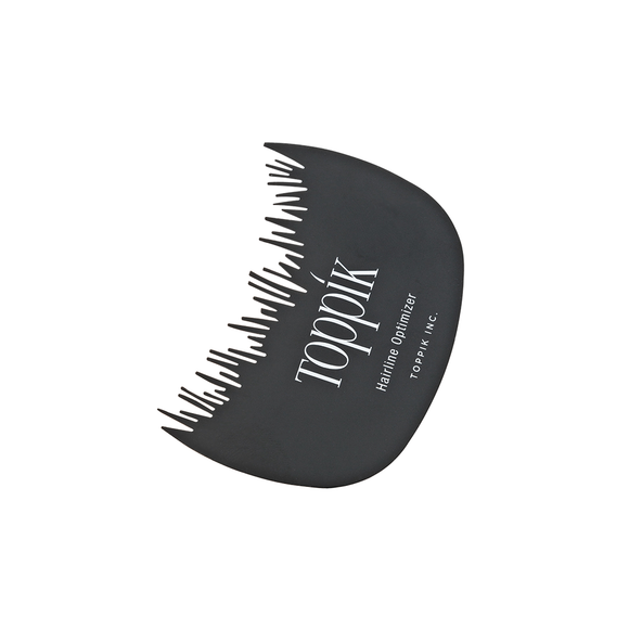 Toppik Hair Line Comb, uniquely designed with irregular teeth to help mimic a natural hairline when applying Toppik Hair Fibers