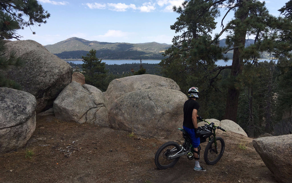 ebike exploring off road in Lake Tahoe