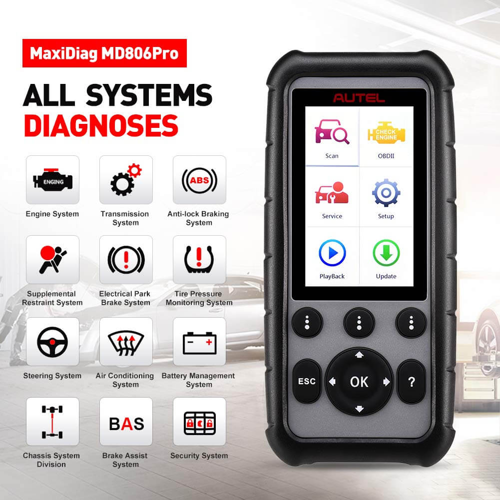 Autel md806 pro all system scanner