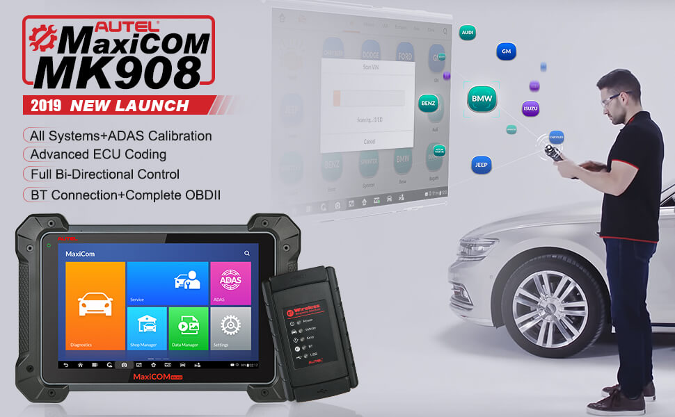 MS908 scan tool is the best tool for busy technicians and auto repair shops