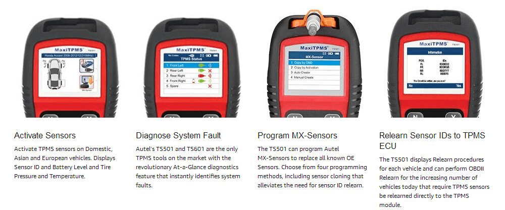 Autel tpms ts501 perform diagnostic
