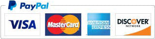 PayPal support Visa, MasterCard, American Express and Discover