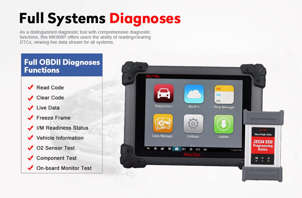autel maxisys ms908s pro all system diagnosis