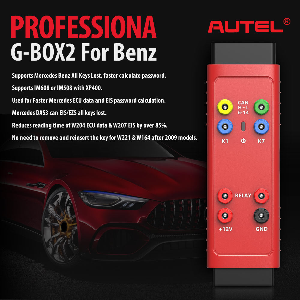autel gbox2 professional all key lost for Benz