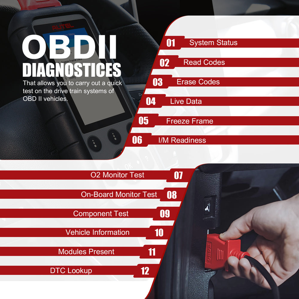 Autel MD806 Professional Diagnosticl Tool with full OBD2 functions