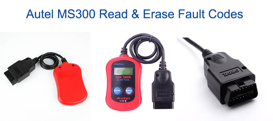 autel ms300 read erase fault codes