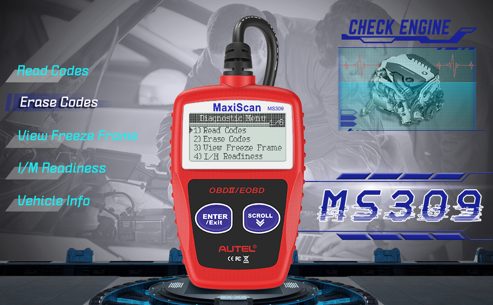 Autel MaxiScan MS309 Car Code Reader