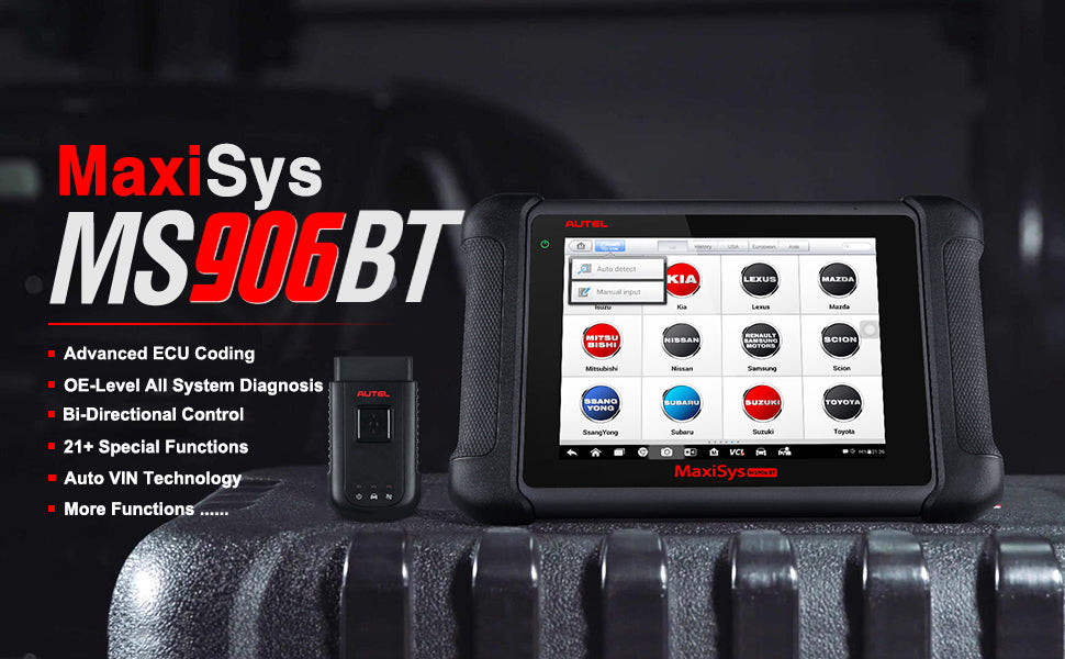 The Autel Maxisys MS906 code reader is an advanced car OBD2 scan tools