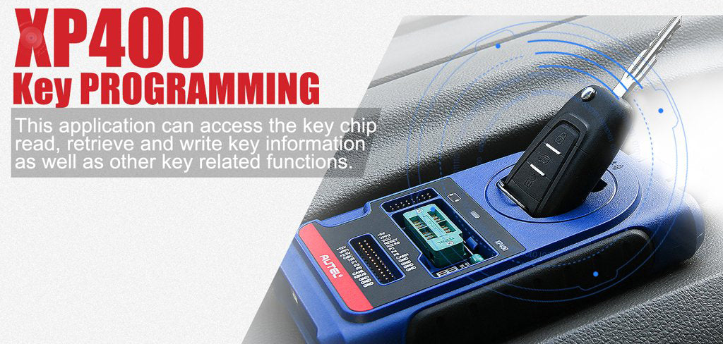 Autel xp400 has access the key chip, read, retrieve and write key information, as well as other key related functions.