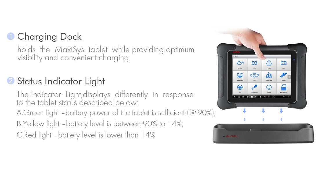 autel maxisys elite charging dock