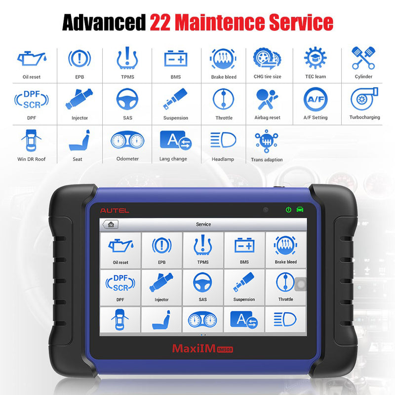 Autel MaxilM IM508 includes 22 maintenance functions