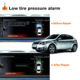 with autel 433mhz mx-sensor show low pressure alarm