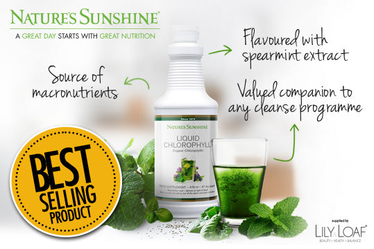 Liquid Chlorophyll does everything from boost energy to reduce skin redness to detoxify the body.