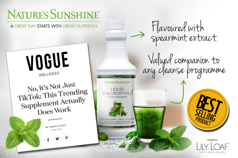 Liquid Chlorophyll does everything from boost energy to reduce skin redness to detoxify the body.TICK TOCK, VOGUE