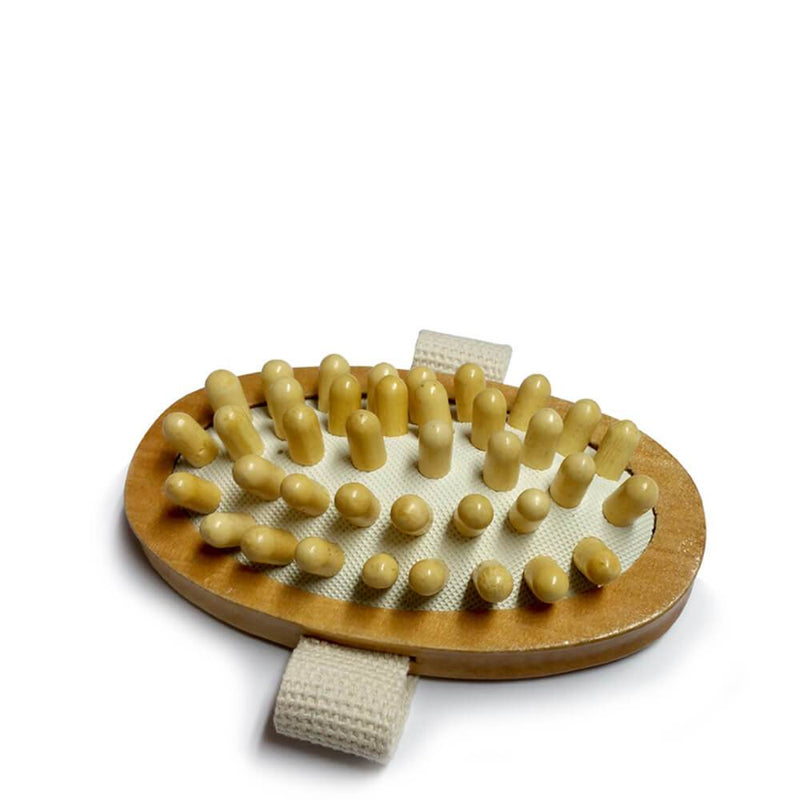 Anti Cellulite Massager, wooden brush with hand strap, boost circulation, reduce cellulite