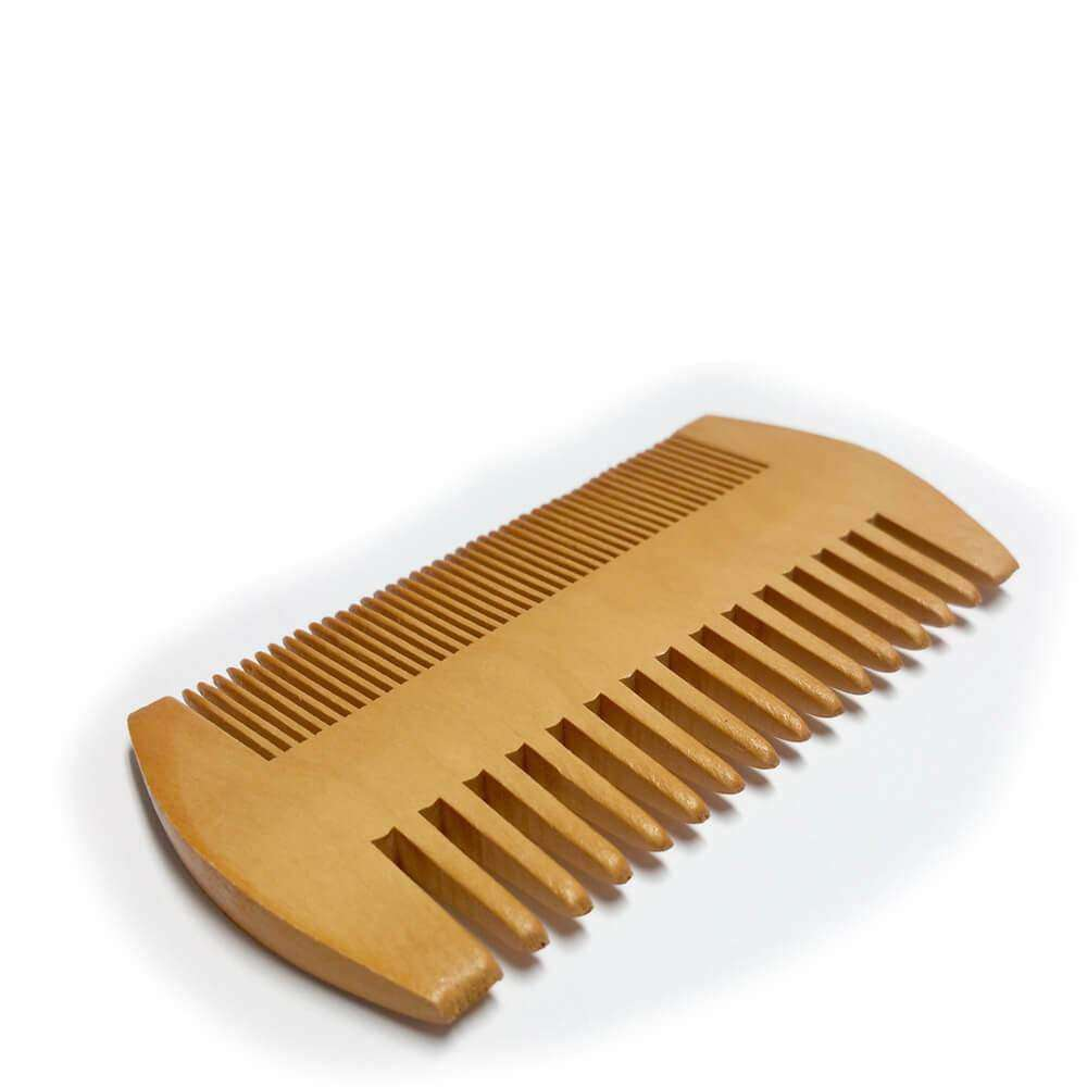 Wooden Beard Comb, double sided, fine teeth and wide teeth
