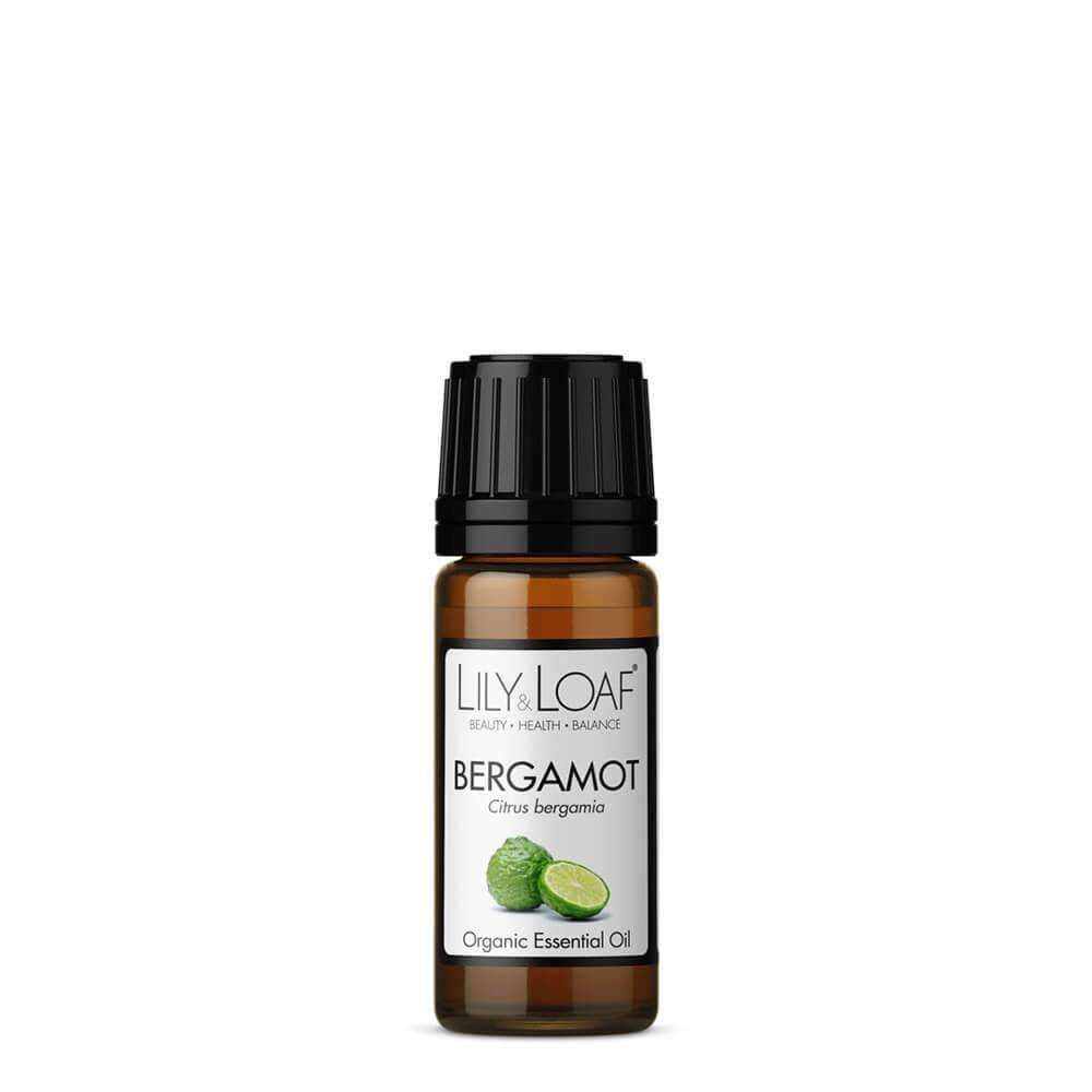 Glass Amber Bottle of Lily & Loaf Bergamot Organic, relaxing and uplifting Essential Oil