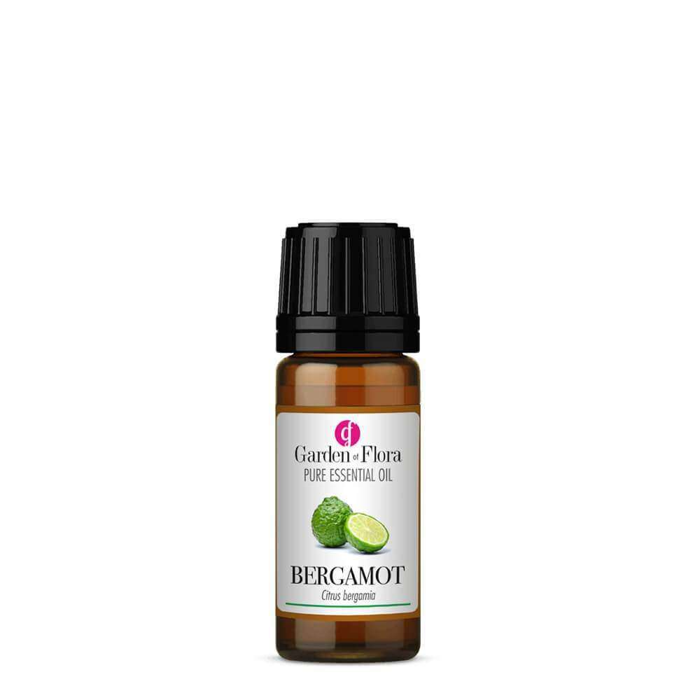 Glass Amber Bottle of Bergamot Pure Essential Oil 10ml, sweet fragrance