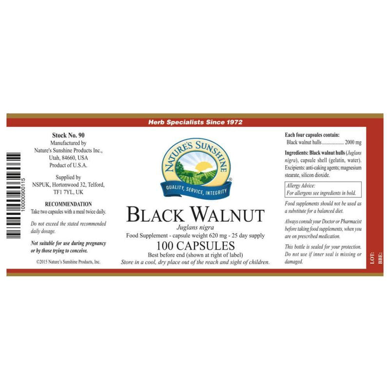 Natures Sunshine - Black Walnut (100 Capsules) - Capsule
