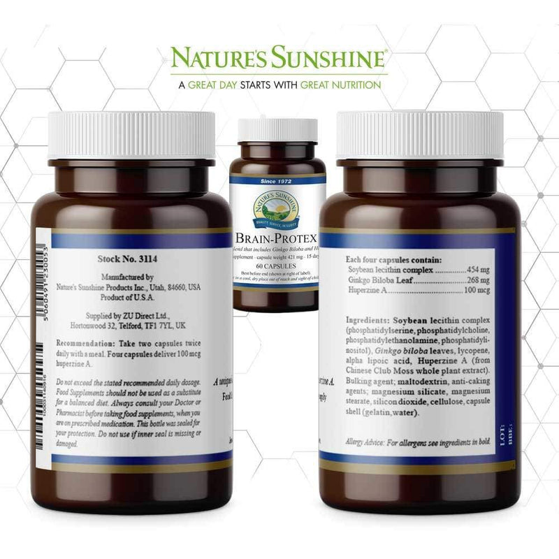 Nature's Sunshine - Brain Protex with Huperzine - Capsule