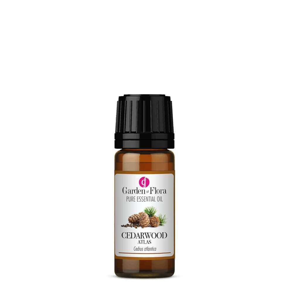 Garden of Flora - Cedarwood Atlas Pure Essential Oil 10ml - Essential Oil