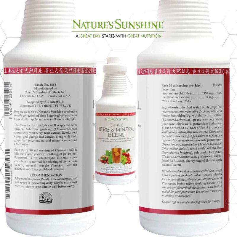 Nature's Sunshine - Chinese Herb and Mineral Blend (946ml) - Liquid