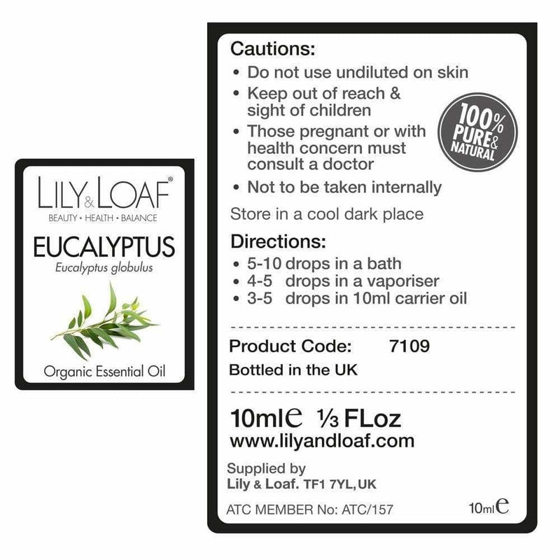 Lily & Loaf - Eucalyptus 10ml (Organic) - Essential Oil