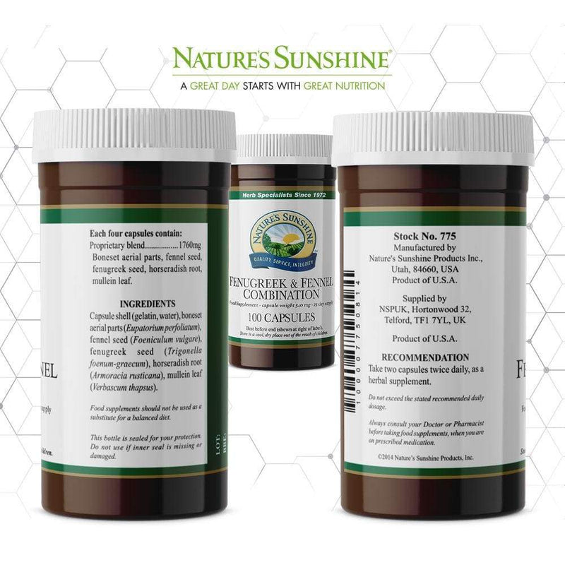 Nature's Sunshine - Fenugreek and Fennel Combination (100 Capsules) - Capsule