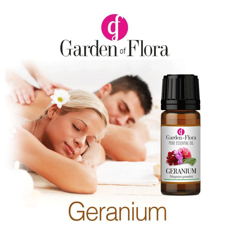 Garden of Flora - Geranium Pure Essential Oil 10ml - Essential Oil