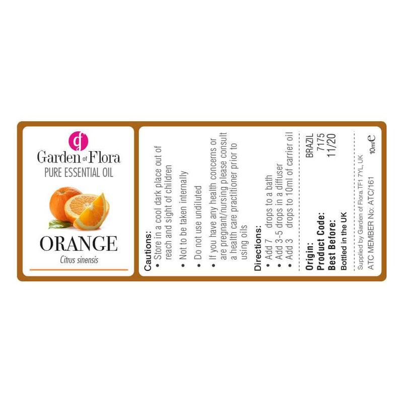 Garden of Flora - Orange Pure Essential Oil 10ml - Essential Oil