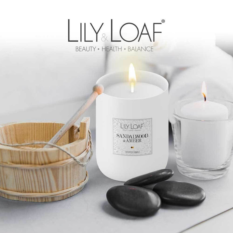 Lily and Loaf - Sandalwood and Amber Soy Wax Candle - Candle